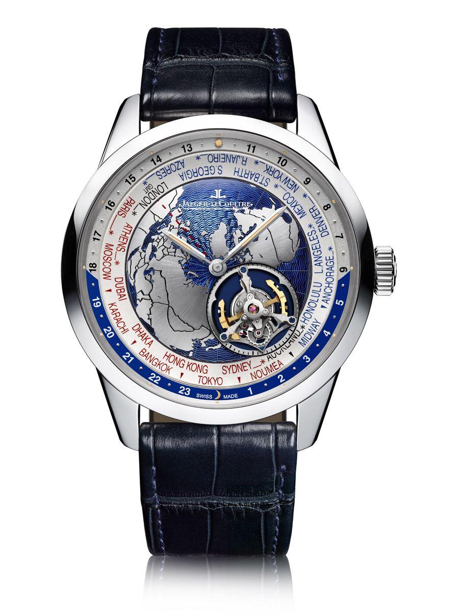 bf10fe5595b Zu den 3 neuen Geophysic-Uhren von Jaeger-LeCoultre gehört die Geophysic  Tourbillon Universal Time in Platin. Sie besitzt ein fliegendes Tourbillon.