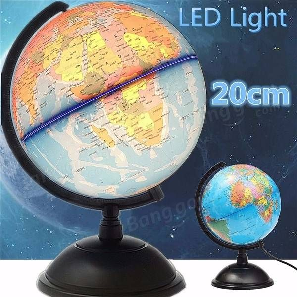 Only us1752 buy best 20cm led world globe earth tellurion atlas 20cm led world globe earth tellurion atlas map rotating stand geography educational gumiabroncs Images