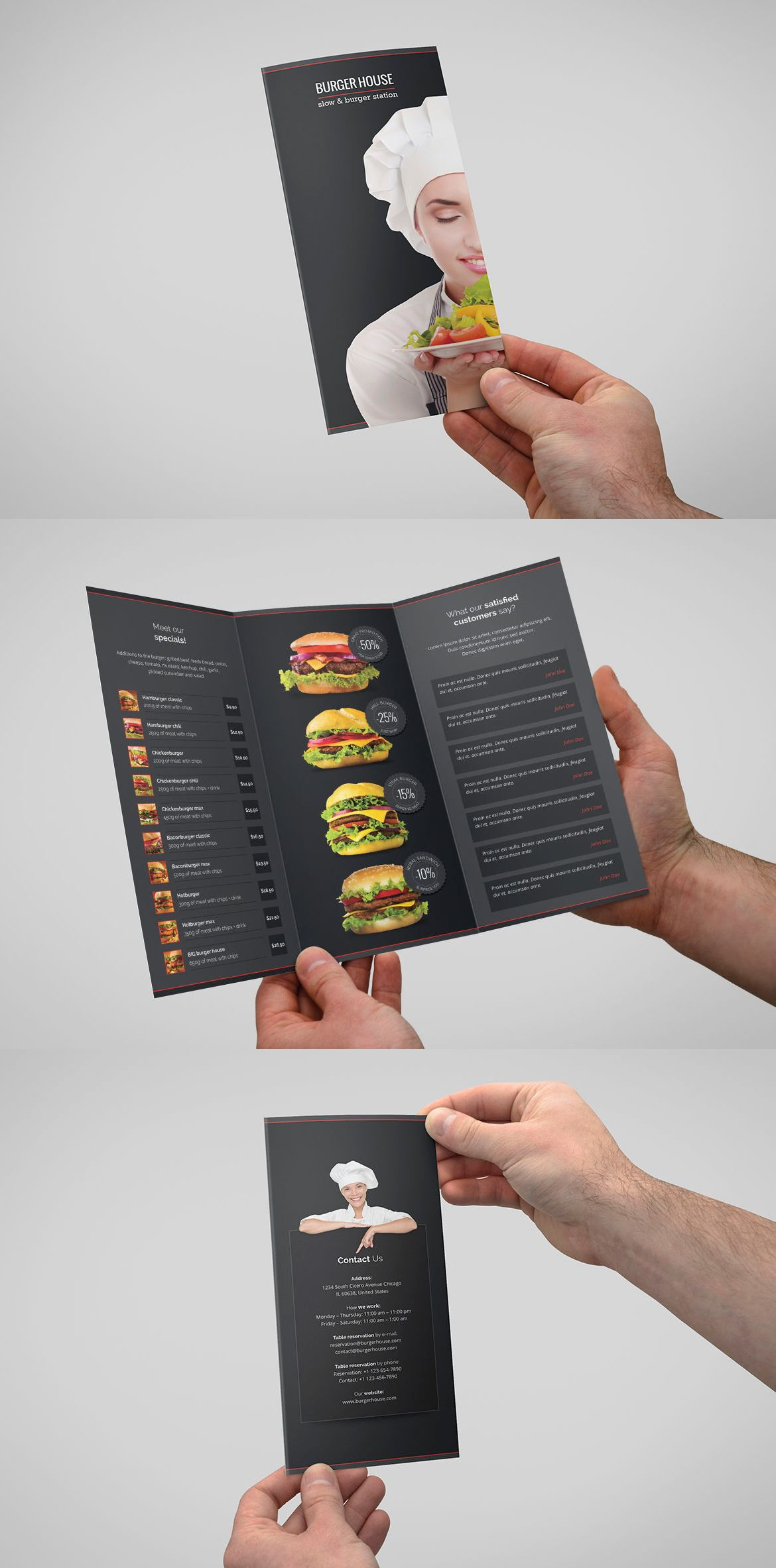 bar bistro burger menu and restaurant tri fold brochure burger house brochure tri fold graphic templates by artbart subscribe to envato elements for unlimited graphic templates s for a single