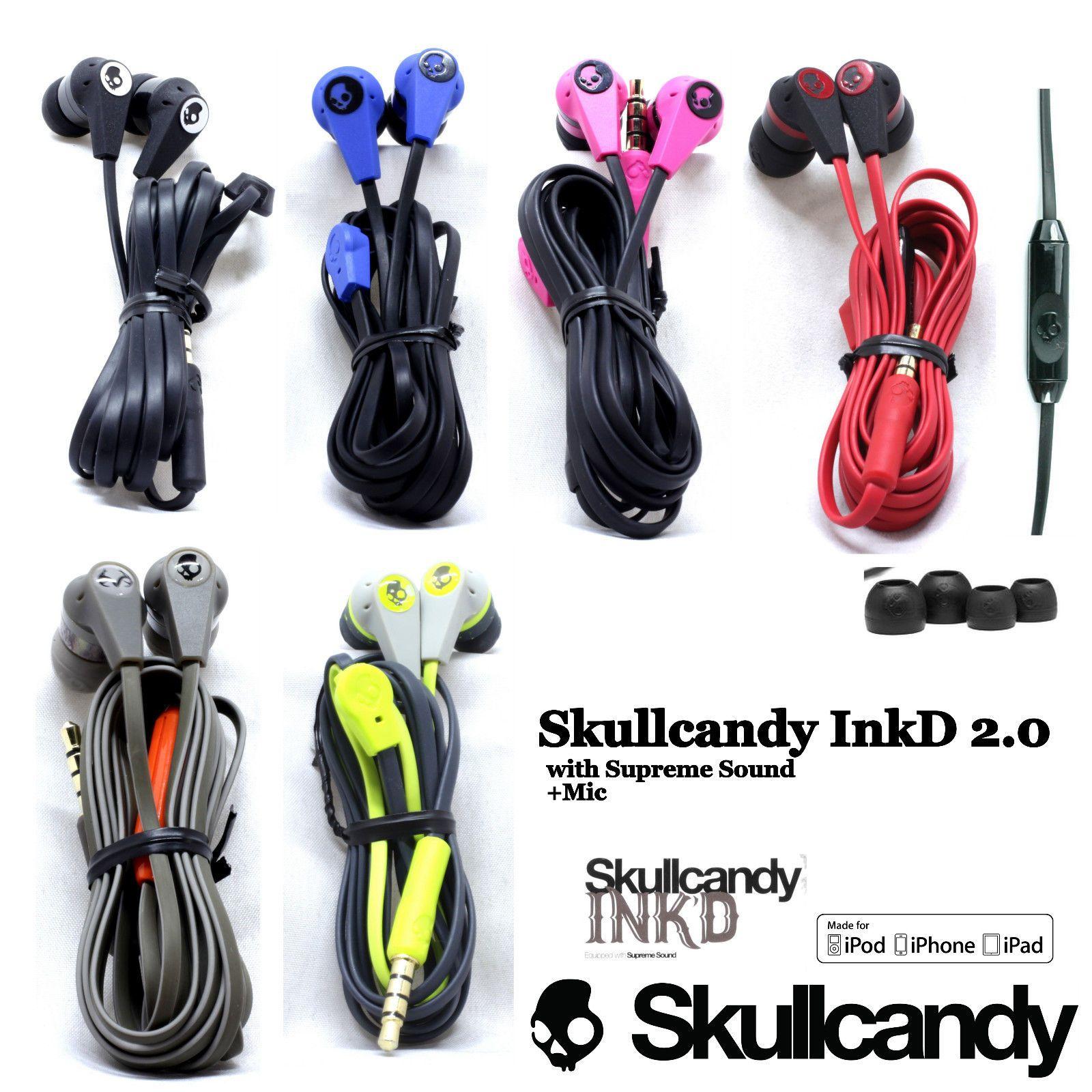 Skullcandy Ink/'d 2 Black//Red In Ear Only Headsets