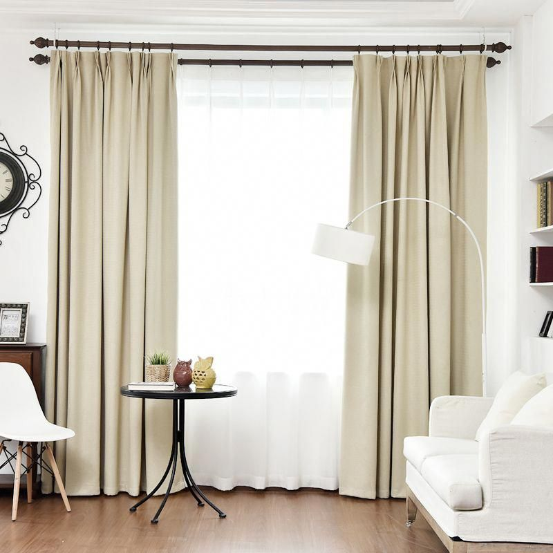 Byetee Blackout Curtains For Living Room Custom Linen Solid Color Thick Simple Modern Curtain Bedroom Cotton Curtains Living Room Modern Curtains Cool Curtains #thick #living #room #curtains