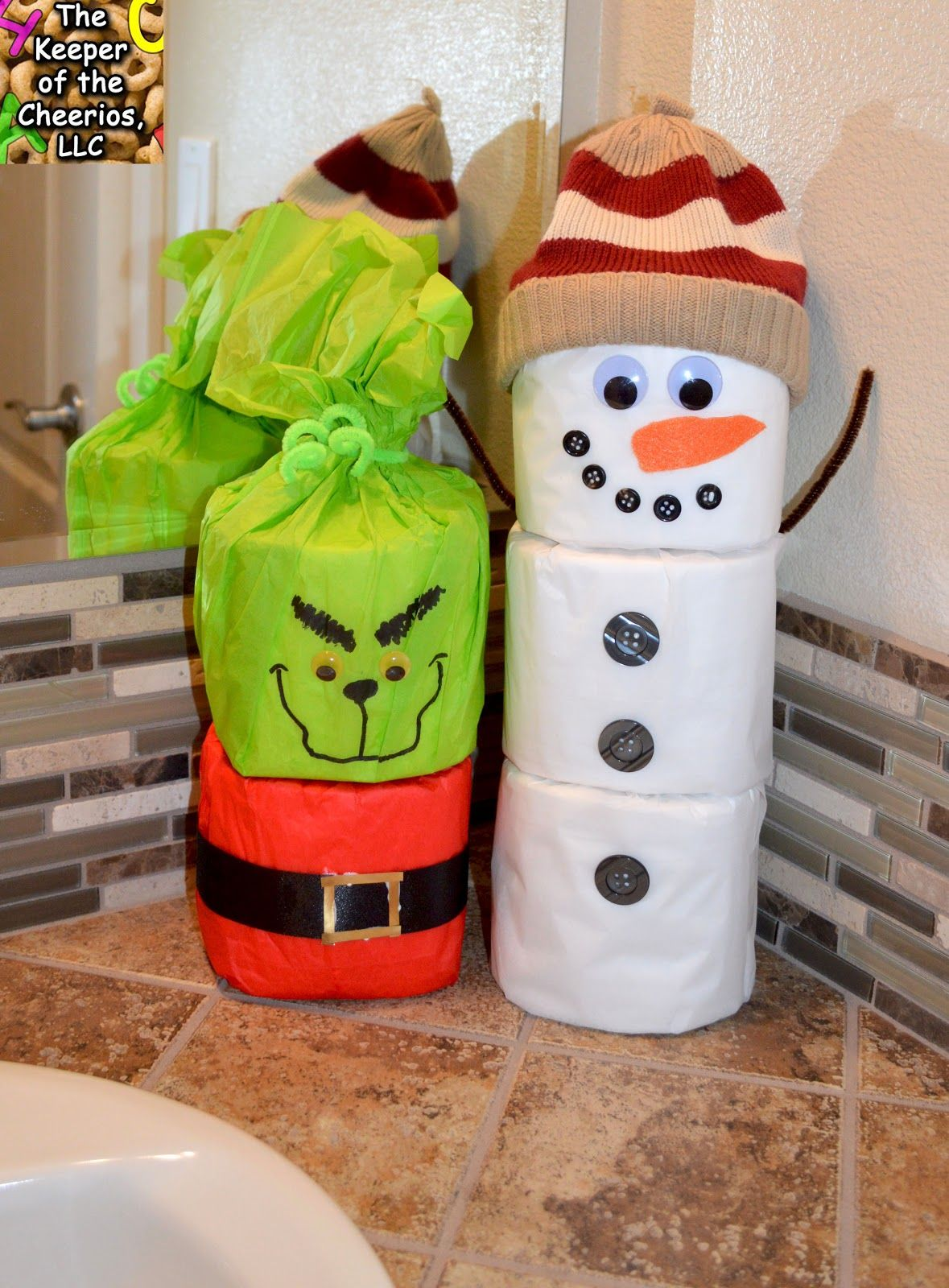 Toilet Paper Snowman Craft Funny christmas decorations