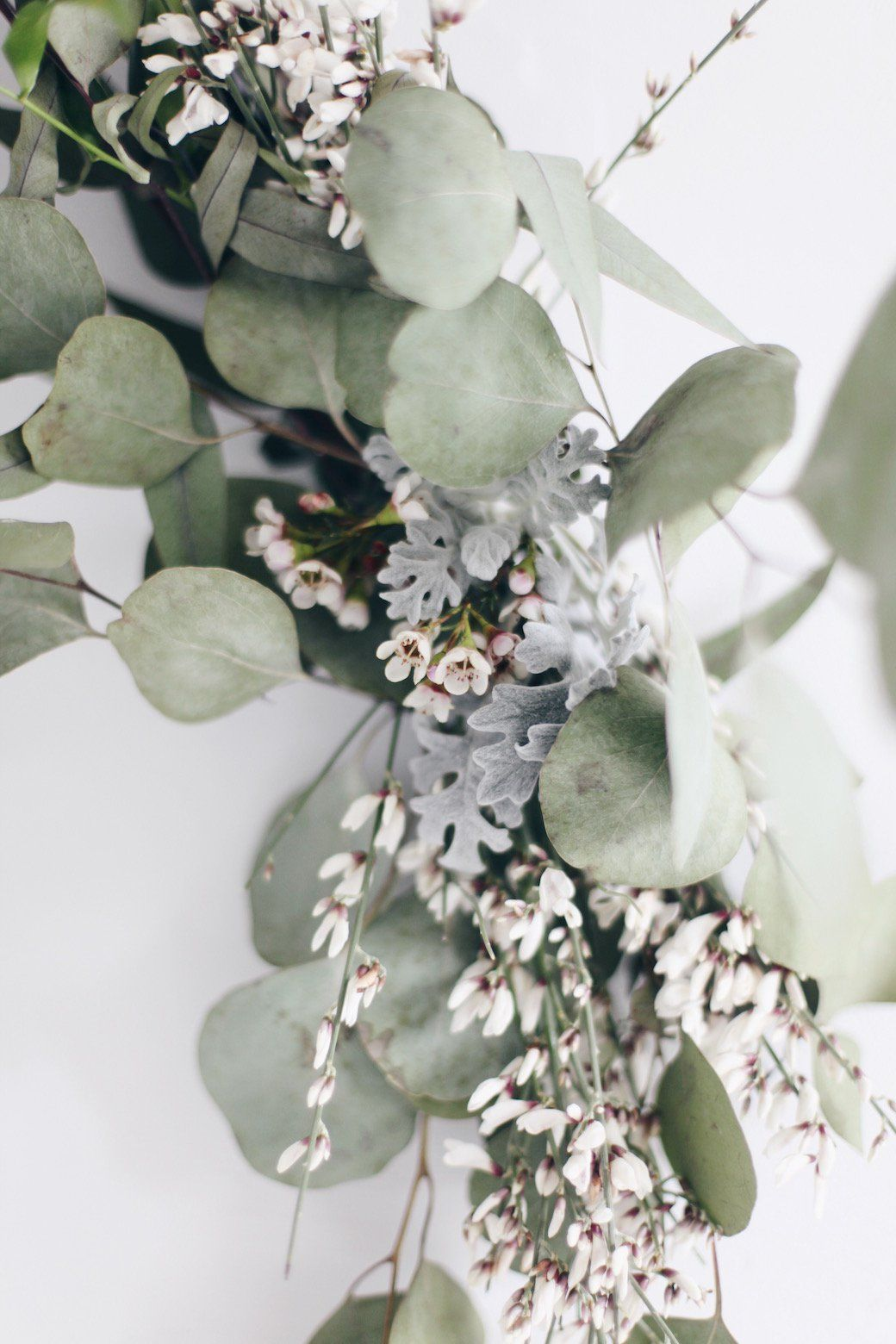 DIY Wreaths With Eucalyptus and RuscusLeafed Bamboo