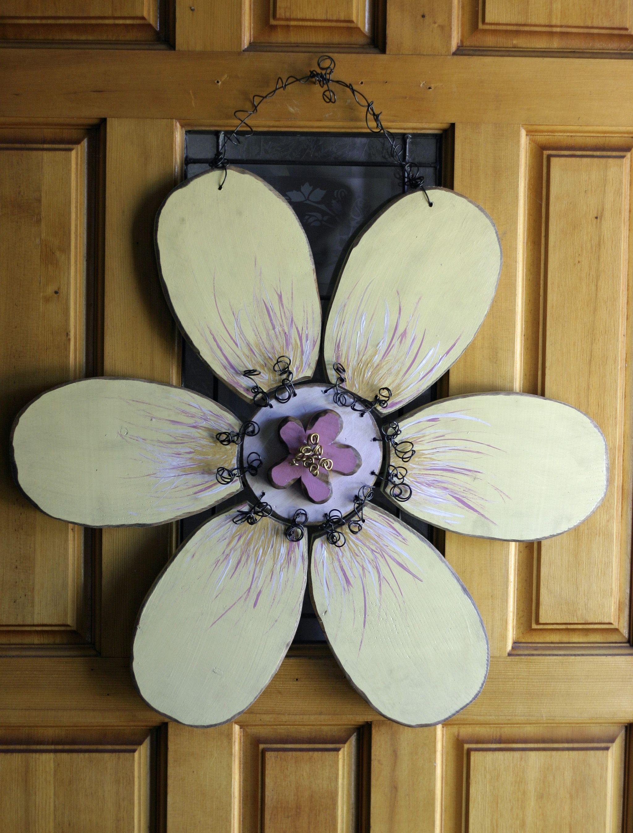 White Flower Ceiling Fan Large White Flower Door Hanger Working With Wood