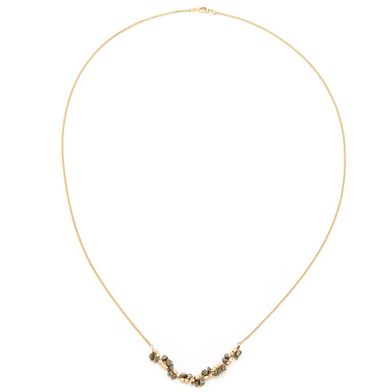 """Sole Society """"delicate pyrite layering necklace"""", $24.95"""