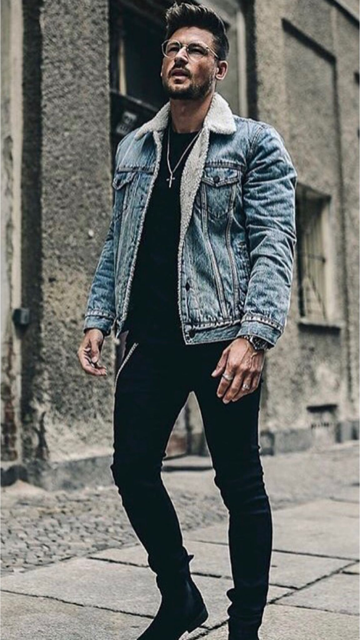 23 Jeans Jacket Outfits You Ll Love Winter Outfits Men Stylish Men Casual Mens Casual Outfits [ 2048 x 1152 Pixel ]