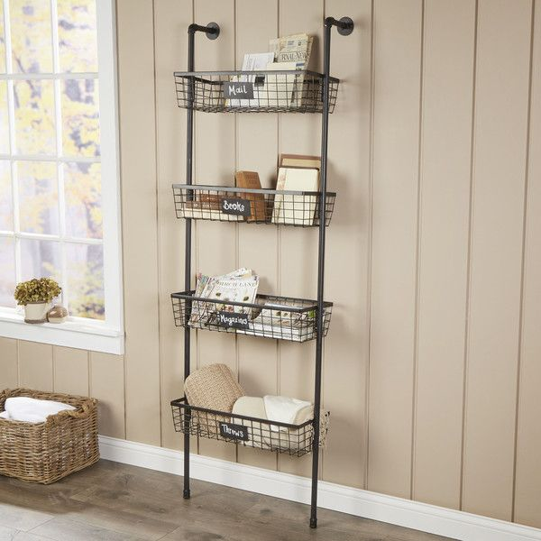 Tanya 4 Tier Wire Basket Wall Shelf Baskets On Wall Wall Organization Shelves