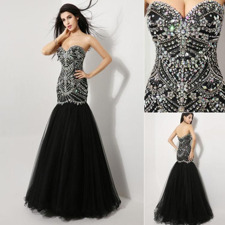 Bling Pink and Black Cocktail Dress