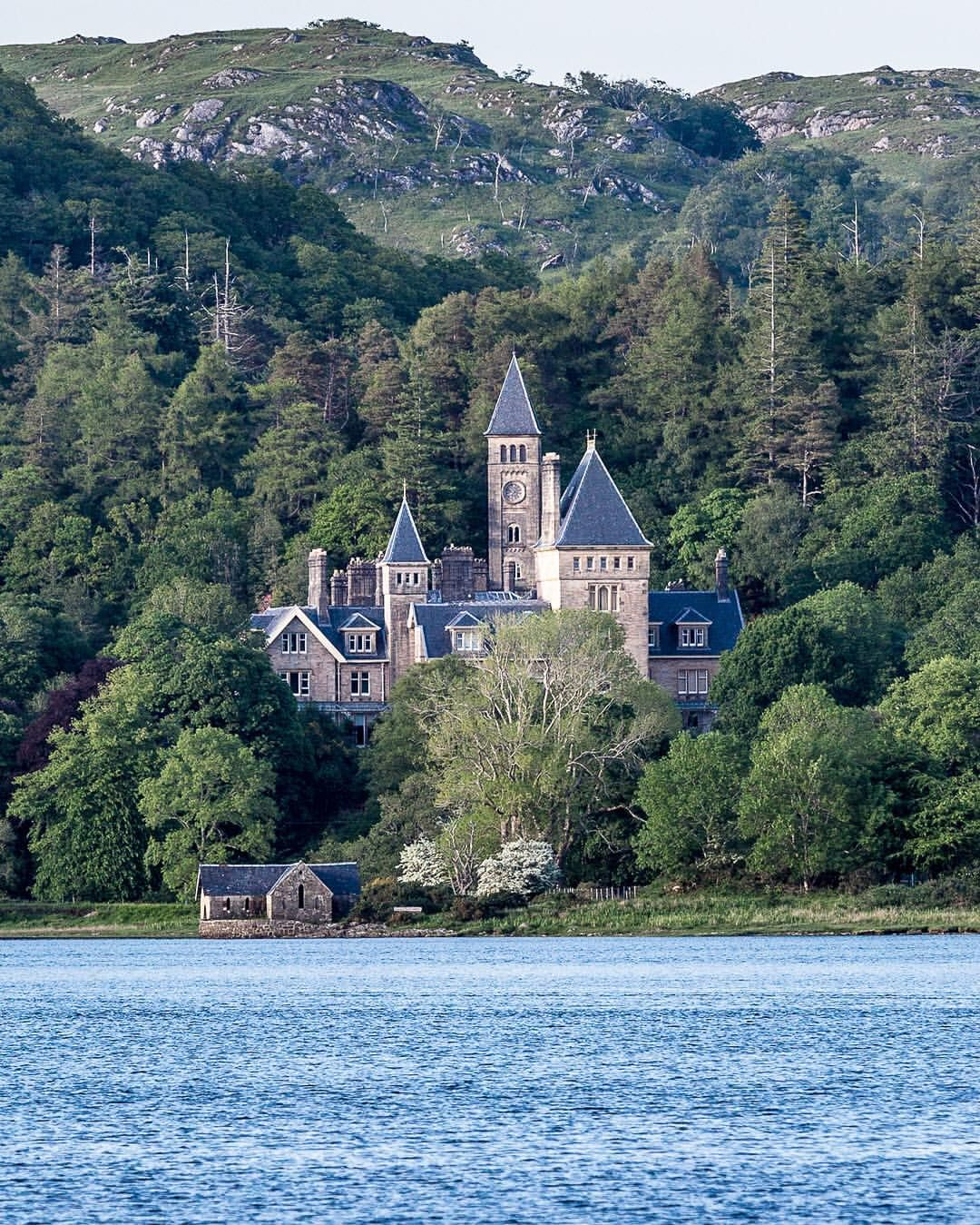 Amazing Places To See Scotland: Amazing View Of Ardtornish House From Loch Aline, Scotland