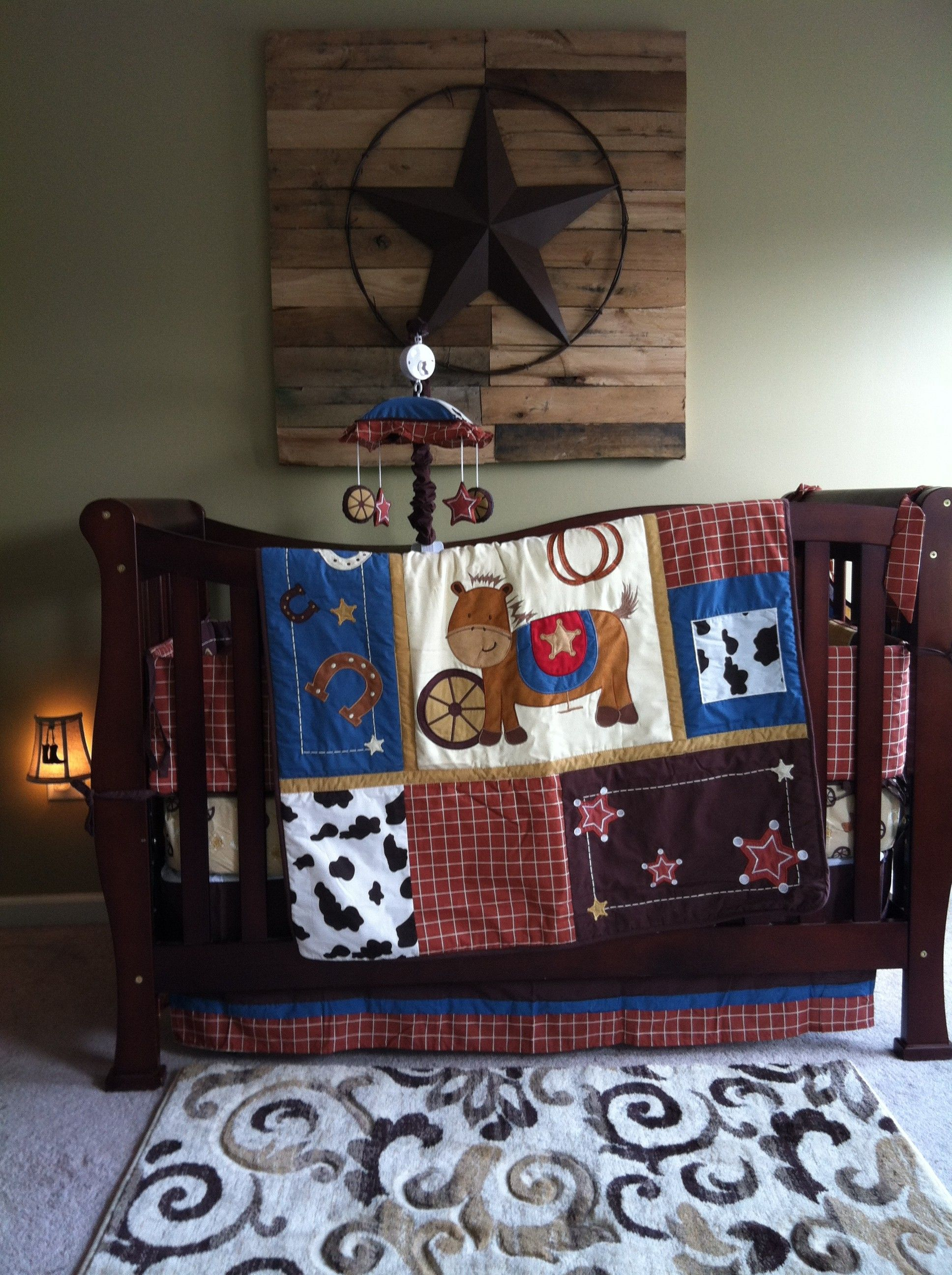 western nursery like the star on the wood for our sweet baby