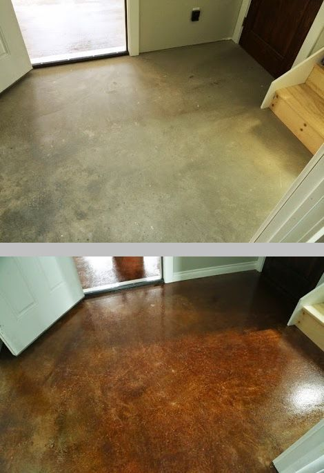 Staining Finishing Concrete Floors