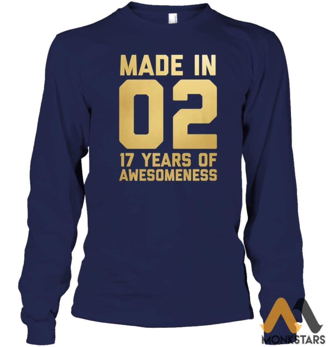 17th Birthday Shirt 17 Year Old Gift Daughter Son Seventeen - Monkstars Inc. #17thbirthday