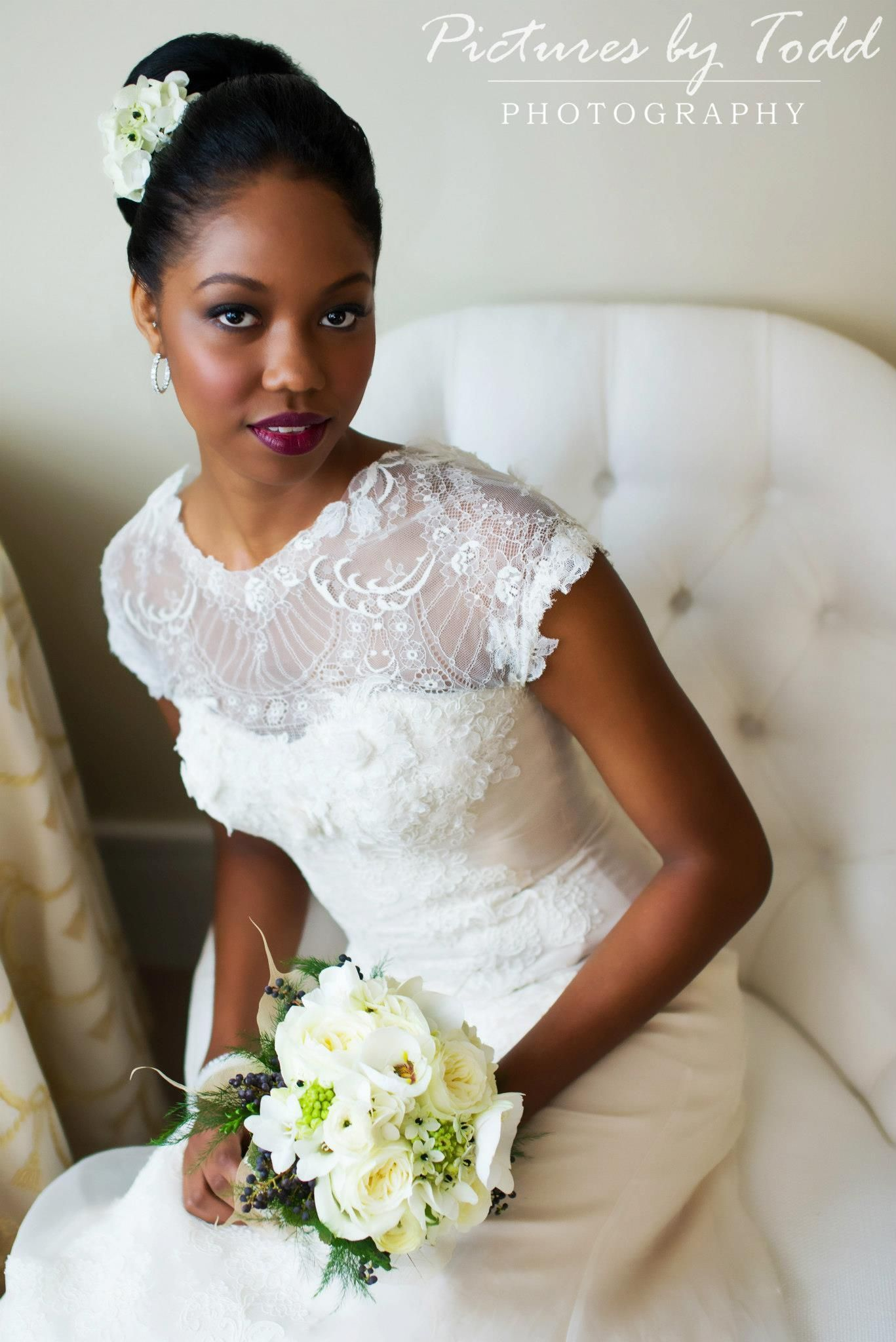 Black and gold wedding dresses  White and Gold Wedding African American Black Bride Elizabeth