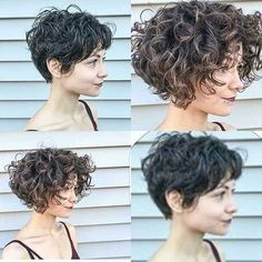 Pendiente A Corto Peinados Para Cabello Rizado Short Hair