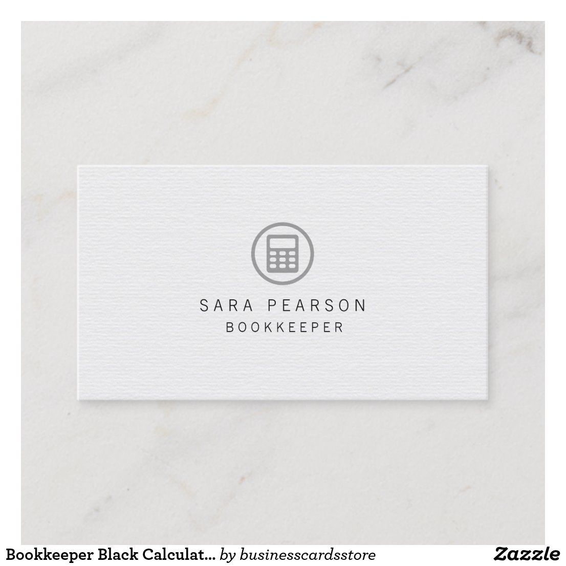 Bookkeeper Black Calculator Icon Finance Business Card Zazzle Com Business Finance Bookkeeping Accounting And Finance