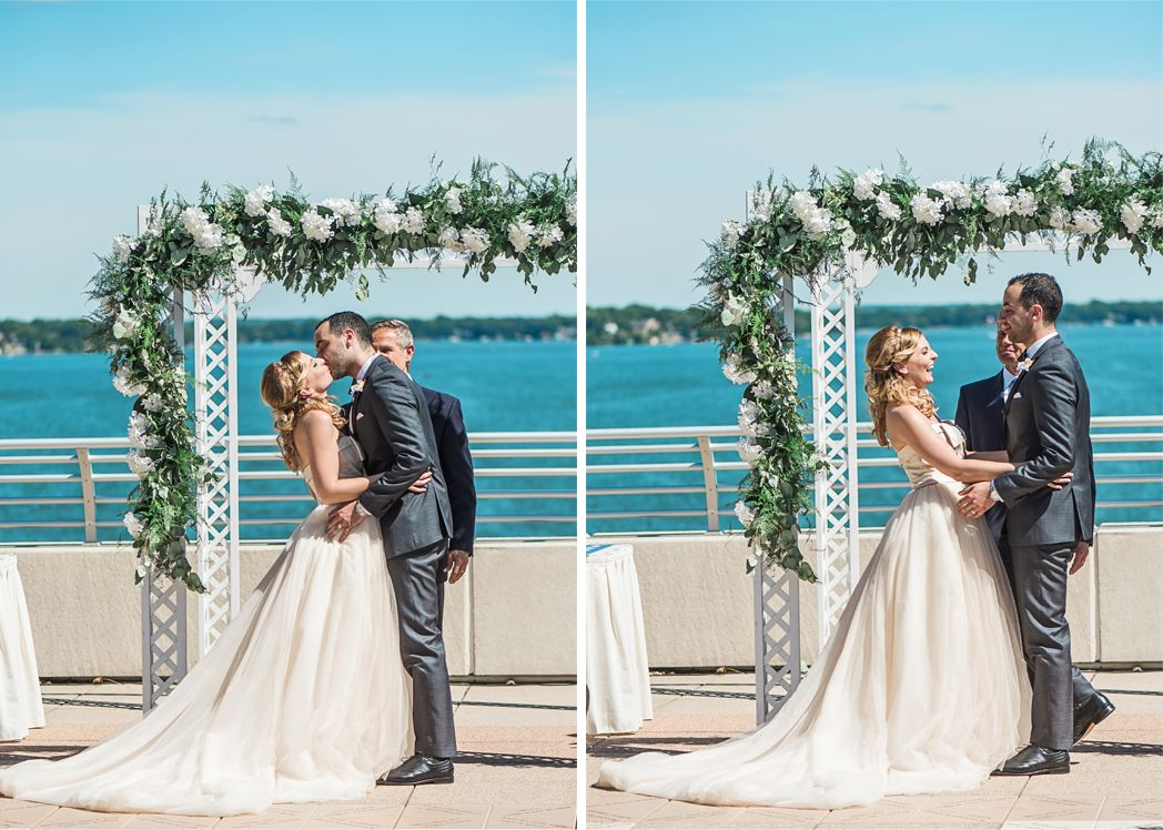 Aubree And Soha Officially Become A Married Couple On The Monona Terrace Rooftop Photos Courtesy Of Larissa Marie Wedding Inspiration Wedding Dresses Wedding