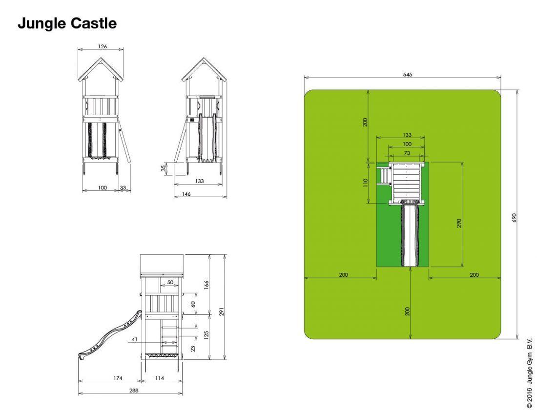 climbing frames for small gardens jungle castle 1 | Backyard play ...