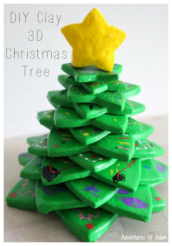 DIY Clay 3D Christmas Tree Simple to