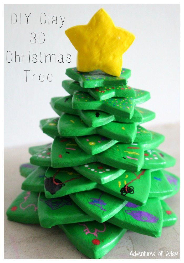 Diy Clay 3d Christmas Tree Christmas Art For Kids Christmas Tree Crafts Holiday Crafts Christmas