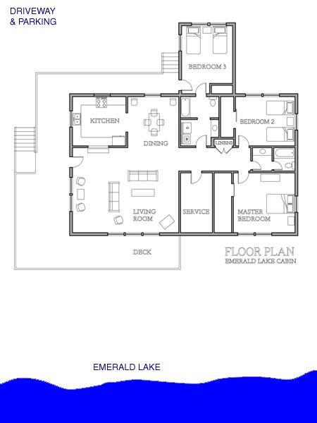 Small Lake Cabin Floor Plans