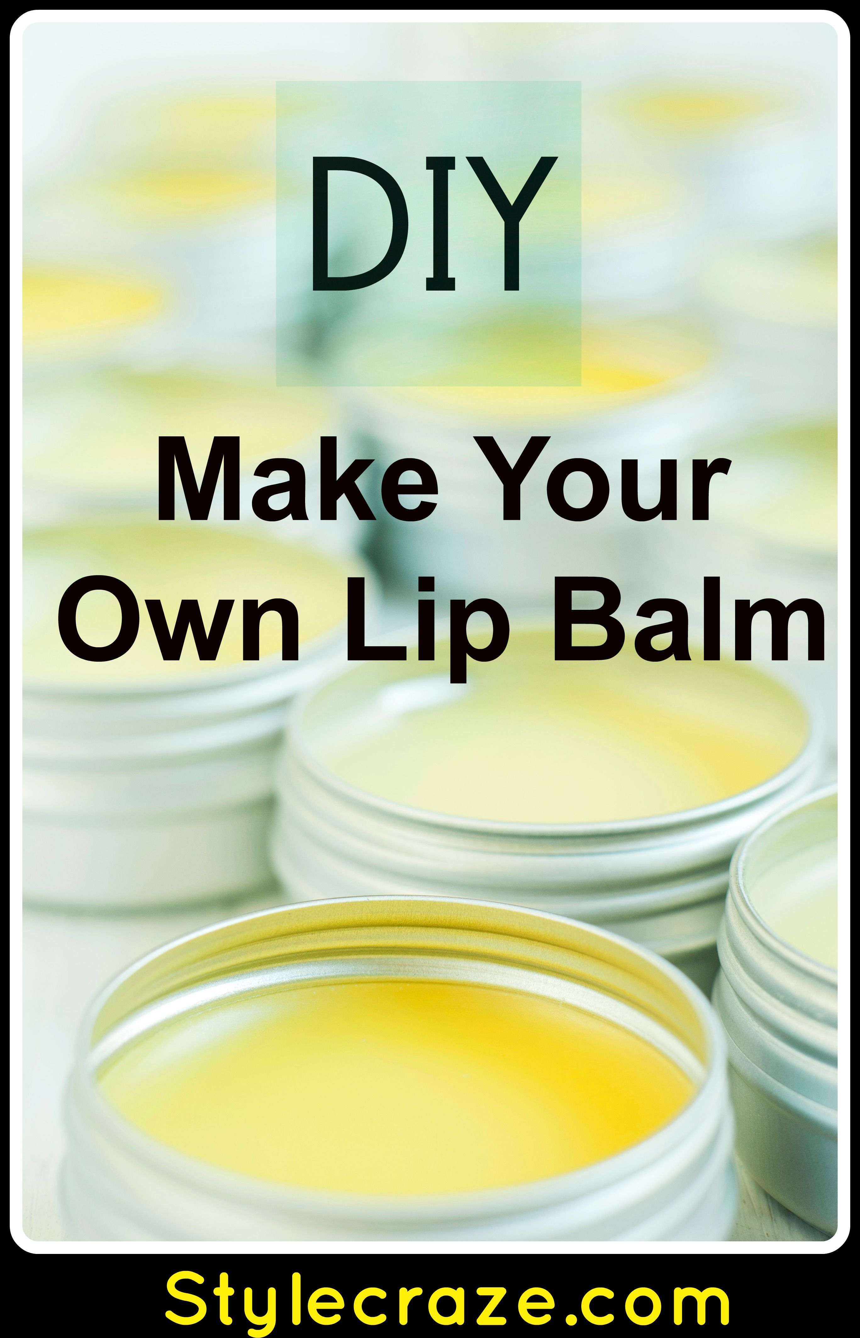 how to make your own lip balm at home