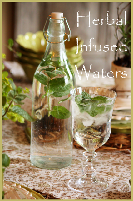 Herbal Waters Recipes ~thinly sliced unpeeled cucumbers ...