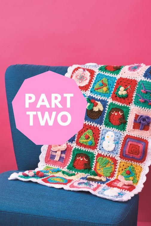 Christmas Blanket Part 2 Crochet Pattern Christmas Pinterest