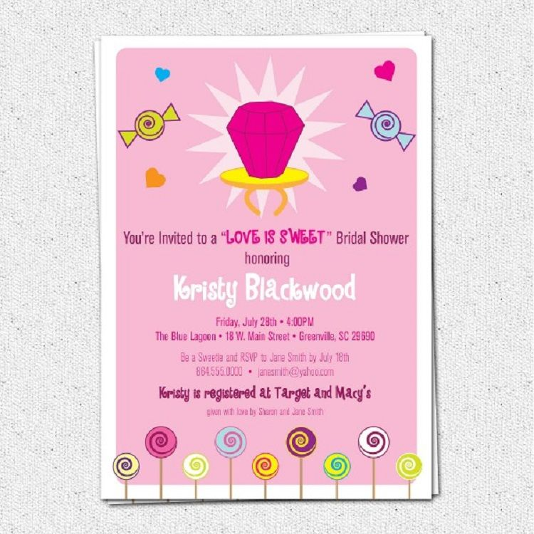 bridal shower invitation wording given by mother