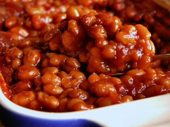 Quick Easy Baked Beans Recipe Food Com Recipe Easy Baked Beans Simple Baked Beans Recipe Baked Beans Recipe Easy Quick