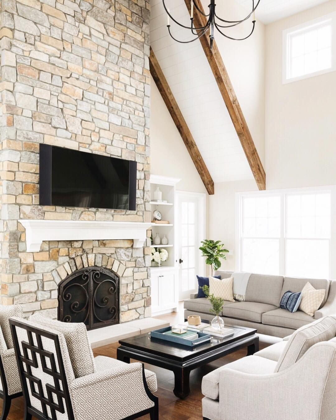 story vault and beautiful stone fireplace in our knollwood house