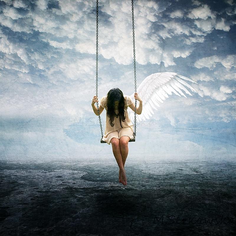 картинка ангел на качелях время