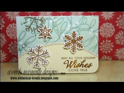 ▶ Christmas 2010 - Card No.5 Holiday Wishes - YouTube