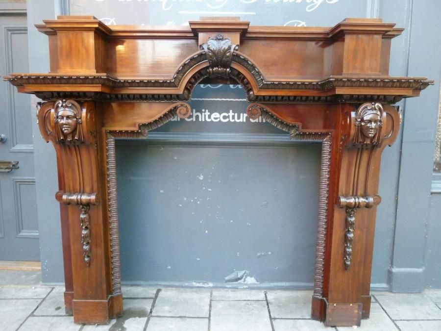 Fireplace Design antique fireplace surrounds : Antique Carved Mahogany Fire Surround - Architectural Forum ...