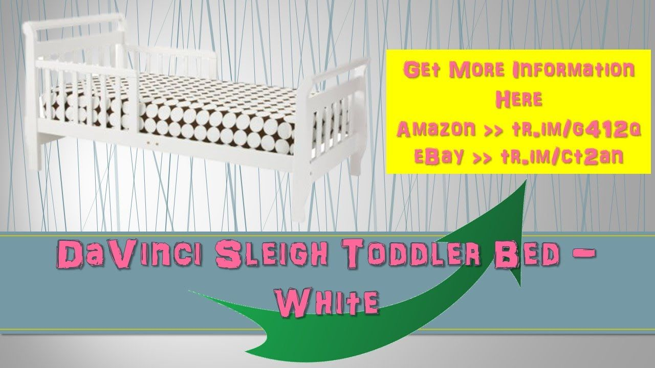 DaVinci Sleigh Toddler Bed White|davinci sleigh toddler|sleigh toddler b...