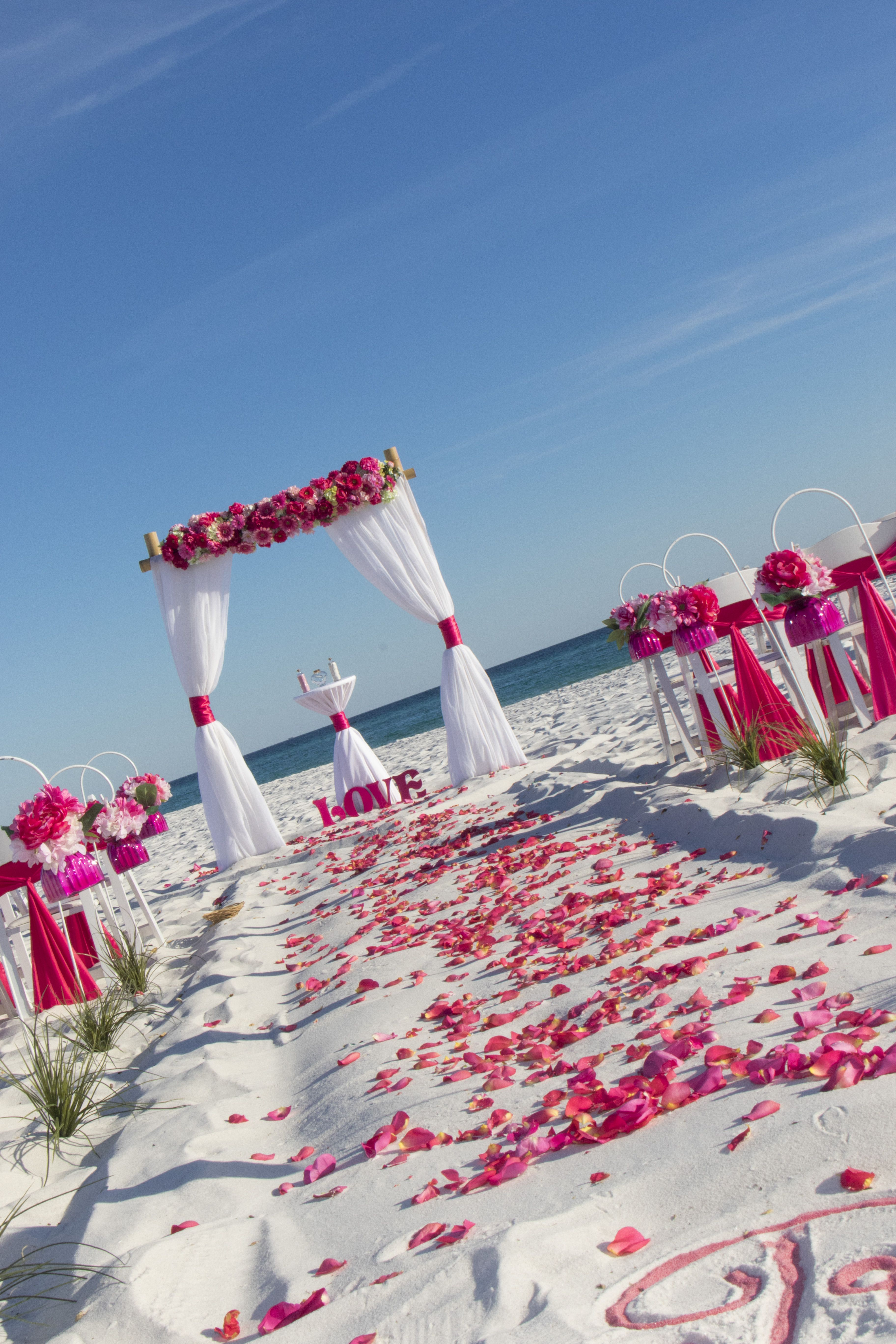 Our Barefoot Bliss beach wedding packages in hues of light ...