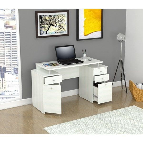 Overstock Com Online Shopping Bedding Furniture Electronics Jewelry Clothing More White Computer Desk Wood Computer Desk Furniture Desk with locking file cabinet