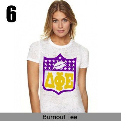 Check out this item from the Sorority White Collection at Something Greek.  Click through to find this design on any style top you can imagine and tons of other greek apparel and merchandise.