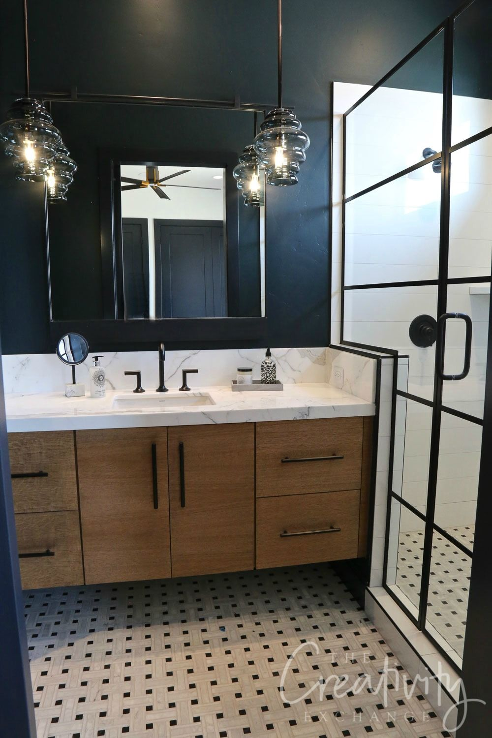 2019 Salt Lake Parade Of Homes Recap Black Accent Walls Black Tile Bathrooms Black Bathroom