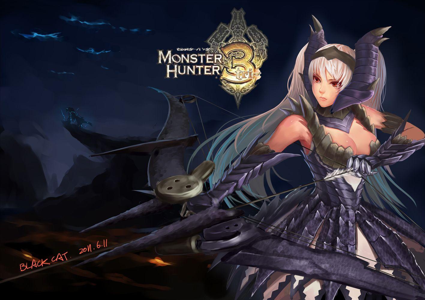 Monster Hunter Alatreon Female Armor Papeis De Parede