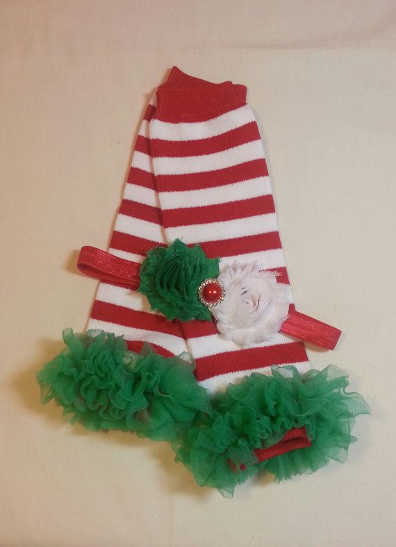 Christmas Red and White Striped Leg by PrincessEllasBoutiqu, $12.75