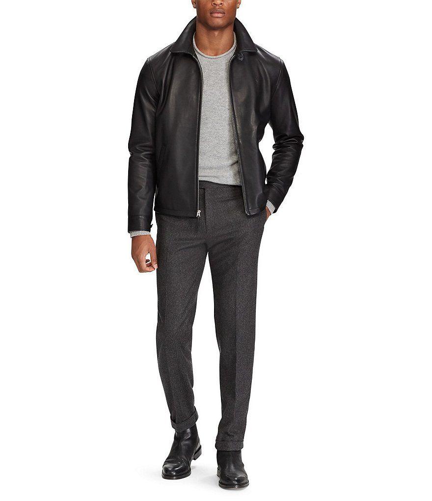 Polo Ralph Lauren Lambskin Leather Jacket Dillard S Leather Jacket Leather Jacket Outfit Men Lambskin Leather Jacket [ 1020 x 880 Pixel ]