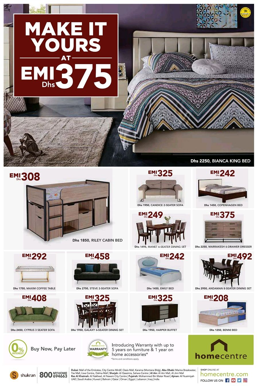 Buy Now Pay Later Offers At Home Centre Dubai And Avail 0 Interest On Monthly