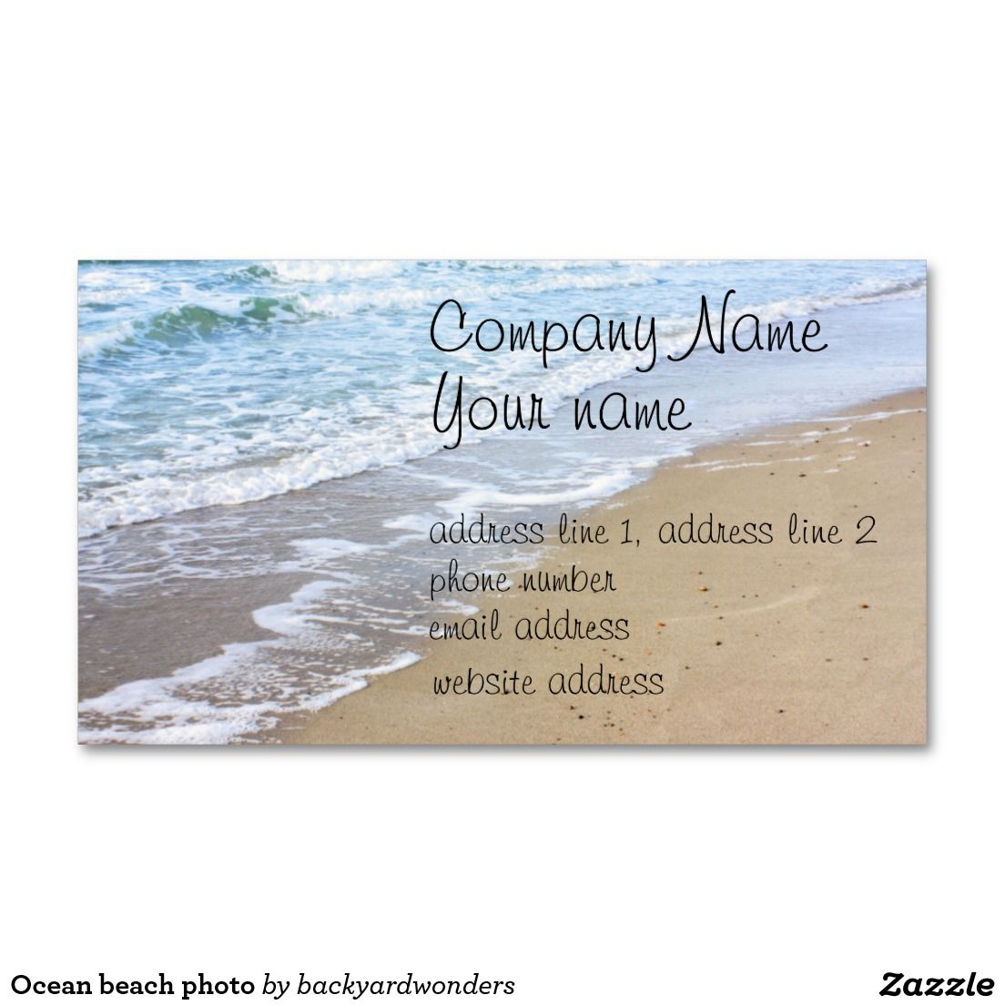 Ocean beach photo Double-Sided standard business cards (Pack of 100 ...