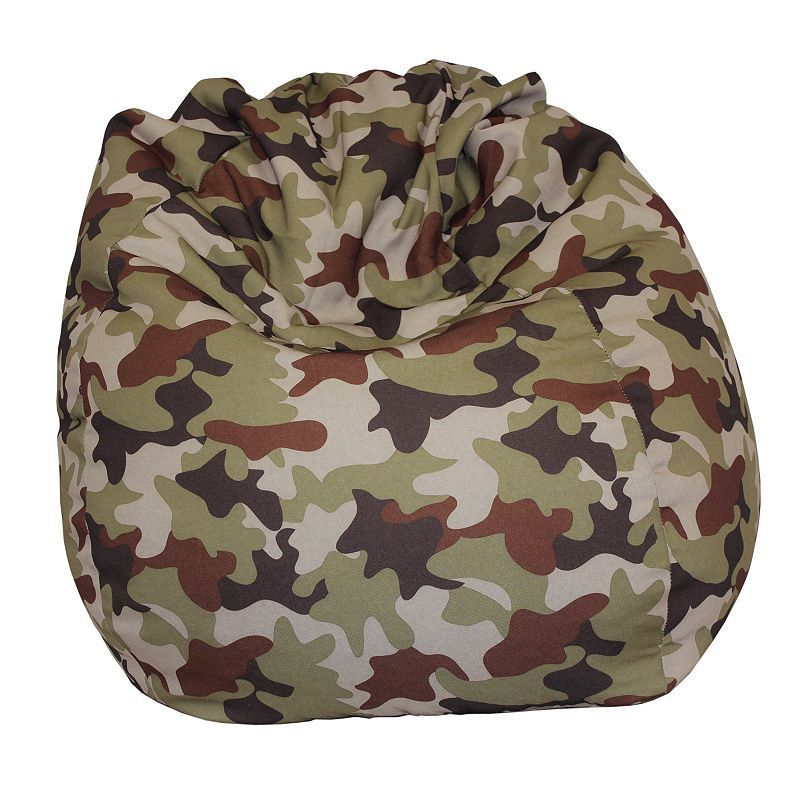 Camouflage Tear Drop Bean Bag, Multicolor