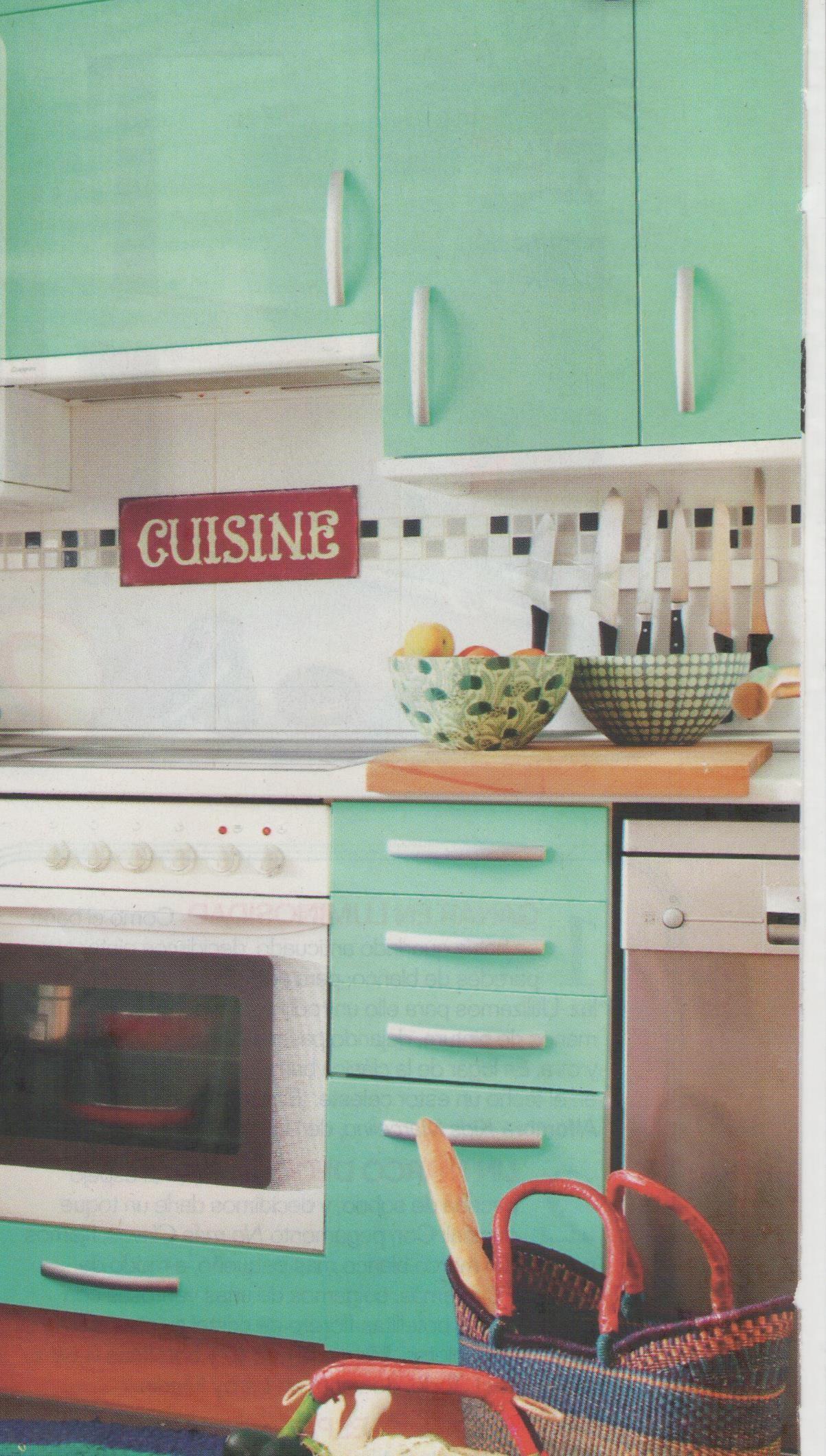 Muebles de cocina forrados con vinilo | Muebles de madera ...