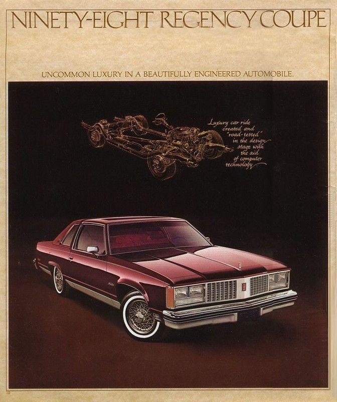 28 1979 Oldsmobile 98 Regency Brochure Page Courtesy Of Old Car Brochures  (672×800) | Oldsmobile Coupe | Pinterest