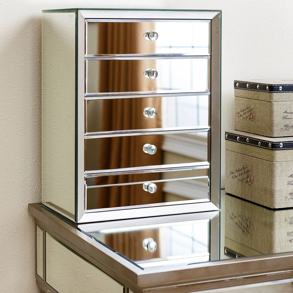 Large Mirrored Jewellery Box With Drawers httpezserverus