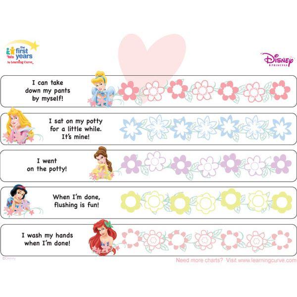 Disney Princess Potty Training Chart | Potty Training Concepts
