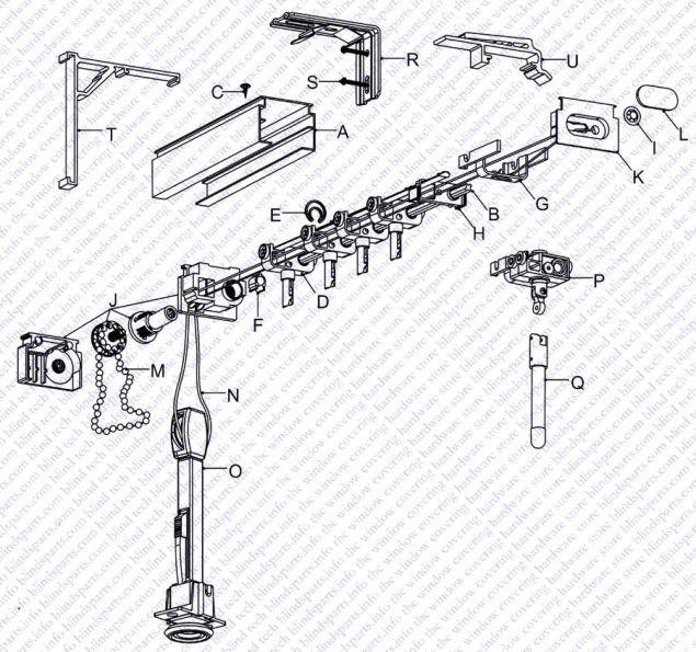 Vertical Blinds Repair Replacement Parts