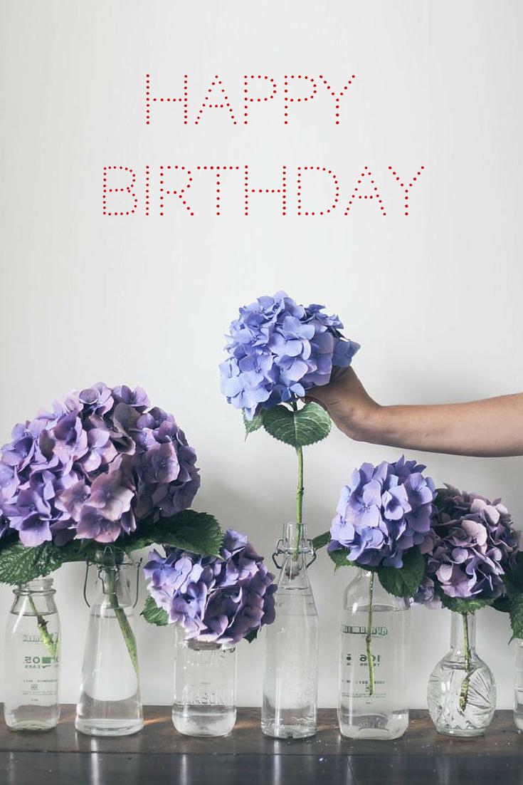 Ortensie Bianche Come Curarle happy birthday to you (มีรูปภาพ) | การจัดดอกไม้, ไฮเดรนเยีย